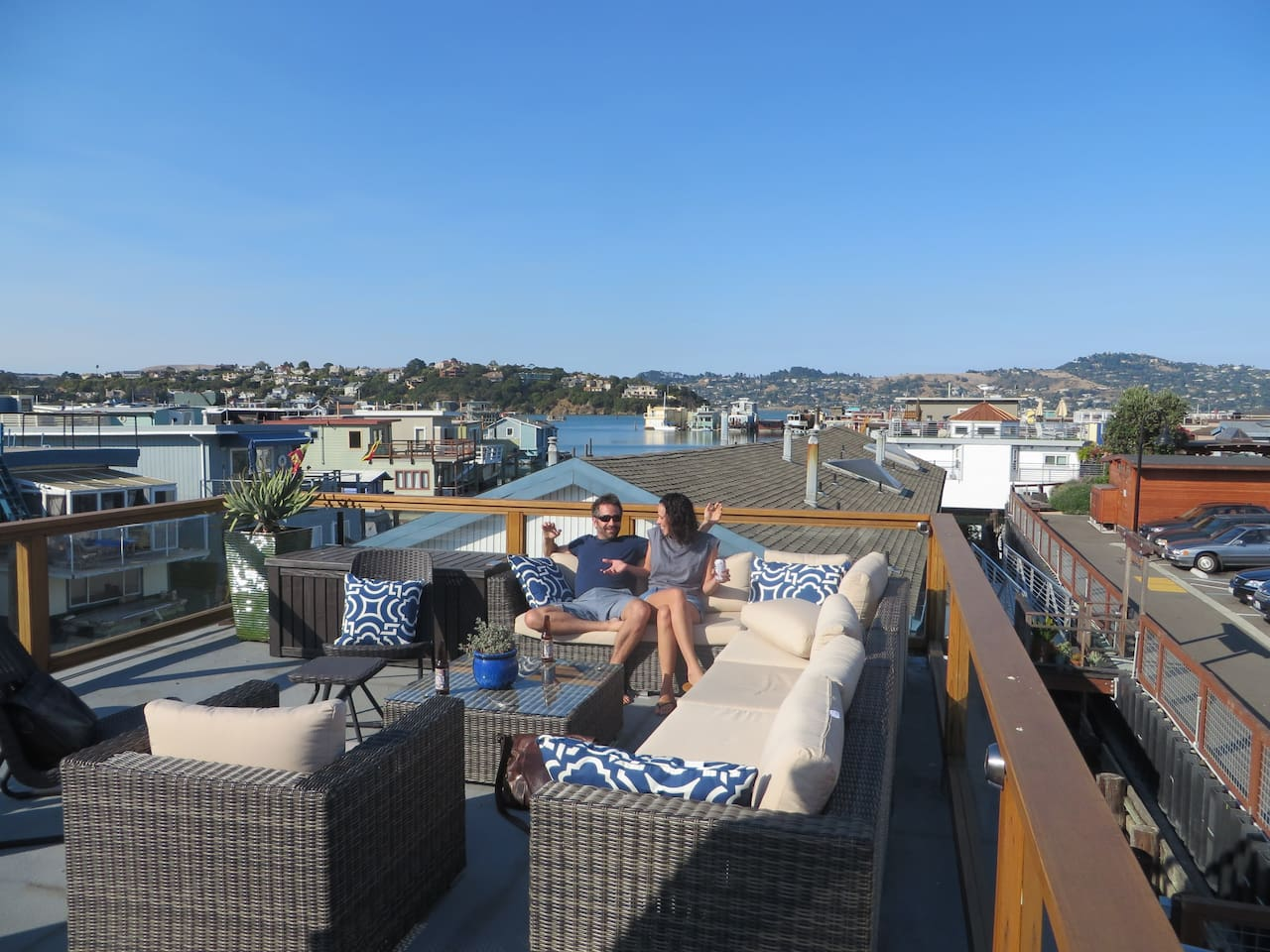 Your own private living room at the top of Sausalito