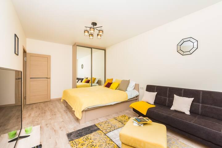 Cozy flat near metro Govorovo