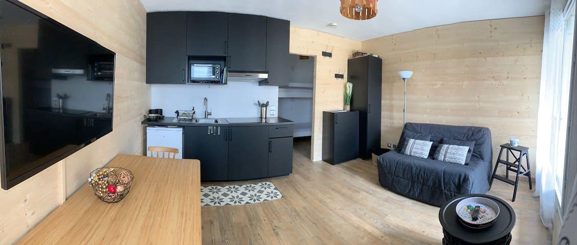 Appartement contemporain rénové, tout équipé