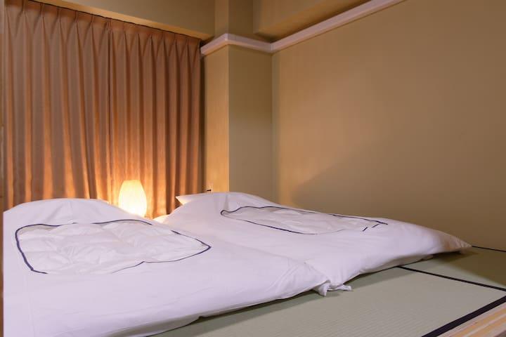 Futon with tatami room