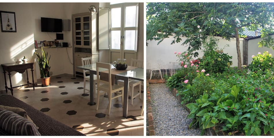 Cozy apartment with garden nearby the city center