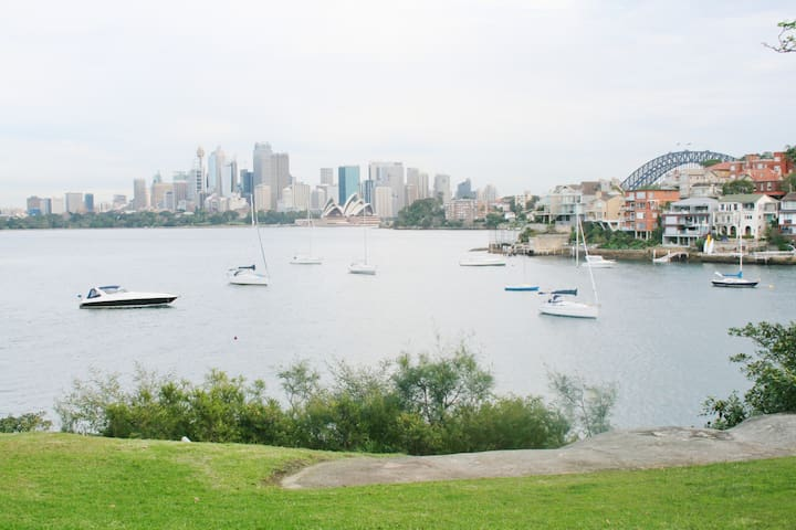Stunning iconic views from the apartment of Sydney Harbour, the Opera House and the Harbour Bridge.