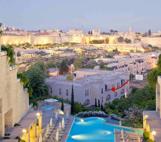 Serene Apt In David's Village /Mamilla, Jerusalem!