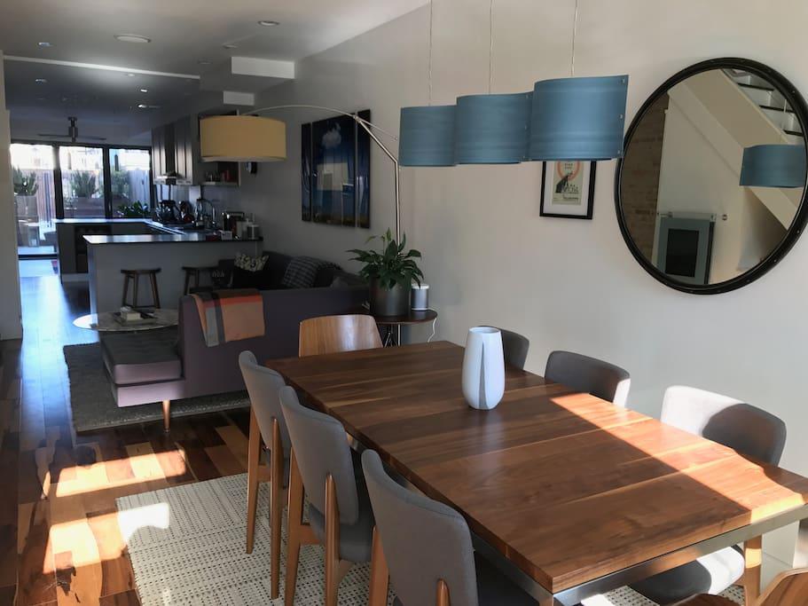 Open Floor Plan: Dining, Living, Kitchen, Back Room/Patio