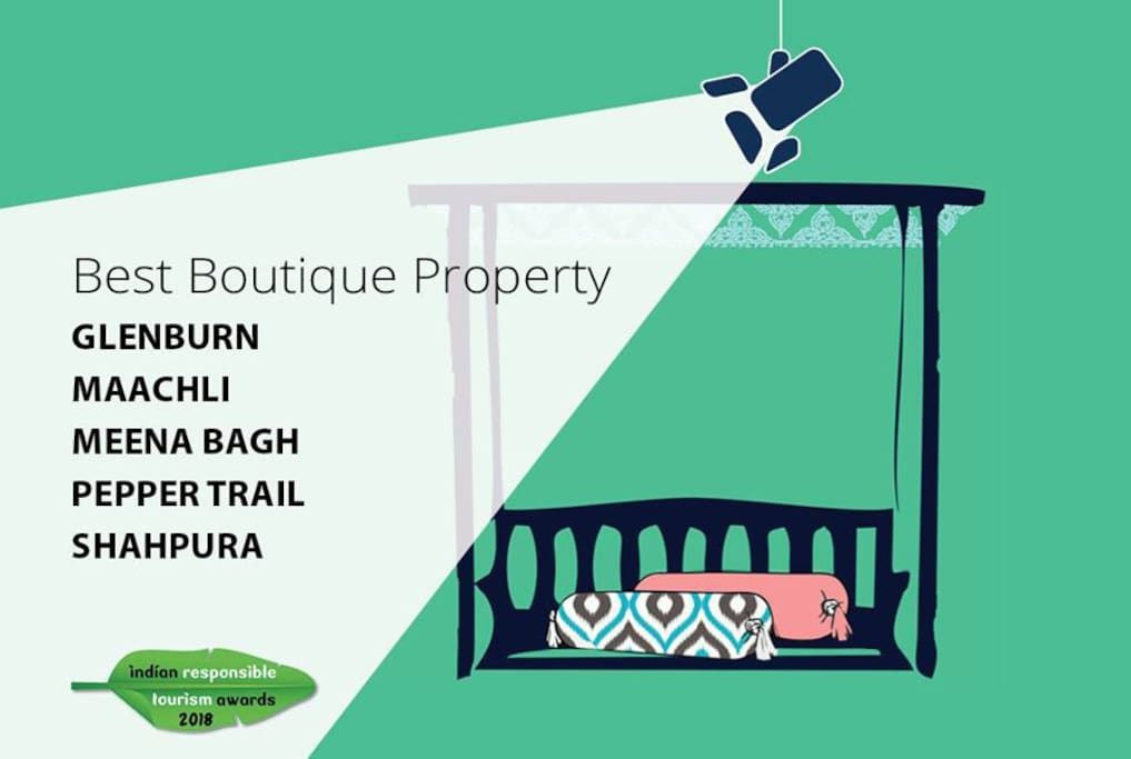 Shortlisted as Best Boutique Property. (Responsible Tourism Awards 2018)