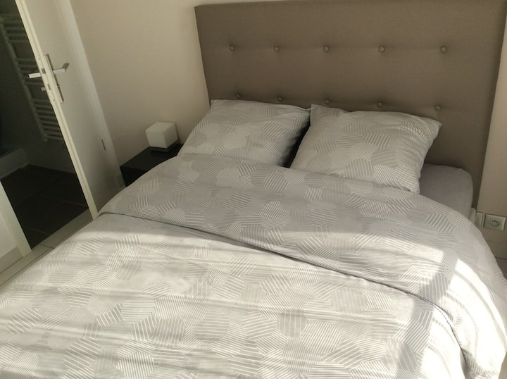 Ensuite bedroom halfway Paris city center/Disney