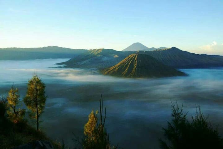 candani röõm, right in bromo mt.