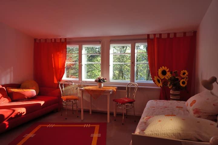 Schönes Zimmer im Grünen