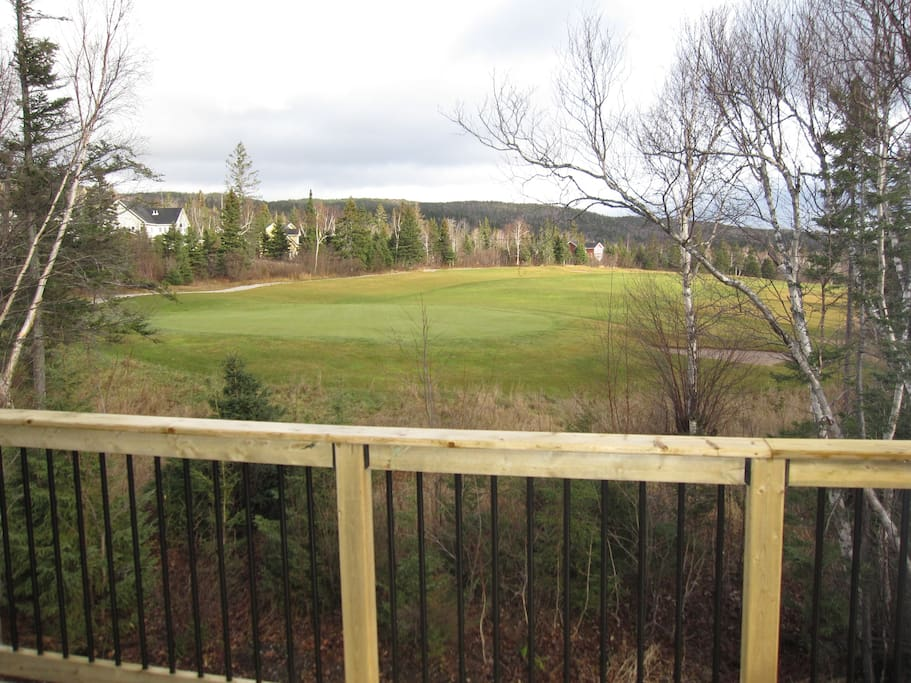Beautiful View from top deck of hole#6 on Humber Valley Golf Course