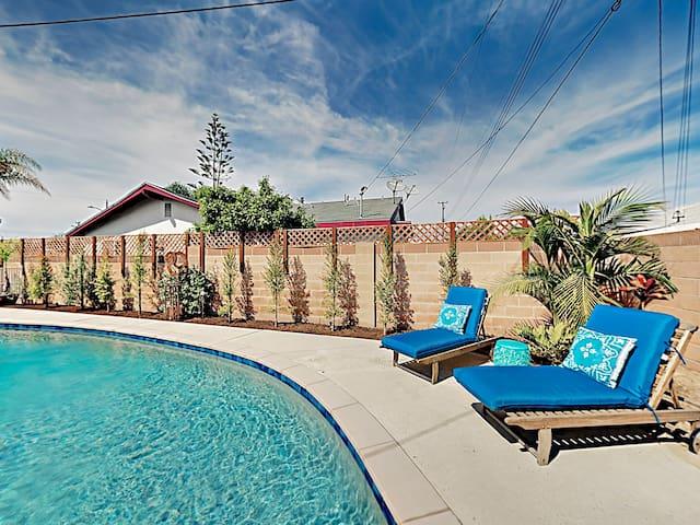 Updated Home w/ Private Pool, Near Disneyland