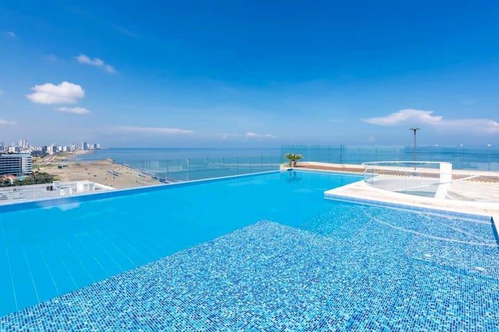Apto con terraza, vista y acceso directo al mar