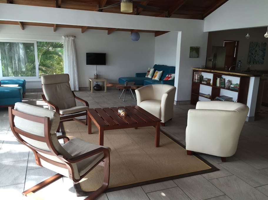 The wide-open, spacious living area is bright, comfortable and flexible to guests' needs.