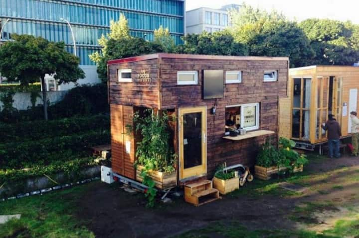 Tinyhouse centrally in Bonn - The Holy Foods House