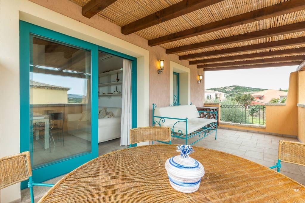 A lovely veranda where you can enjoy Sardinian breeze