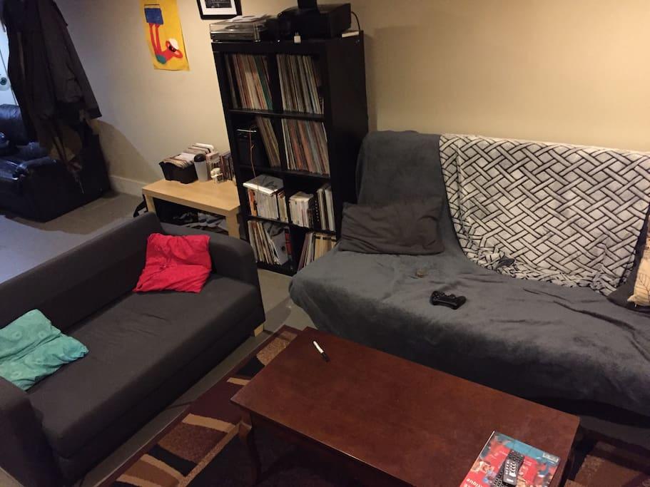 Private living room, basement