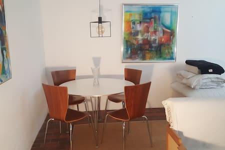 En lille bolig. Med egen indgang.