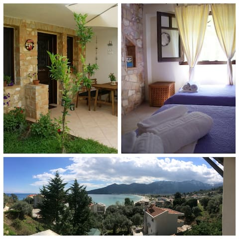 Family-friendly,close to best beach (150 meters) - Thasos - Apartment