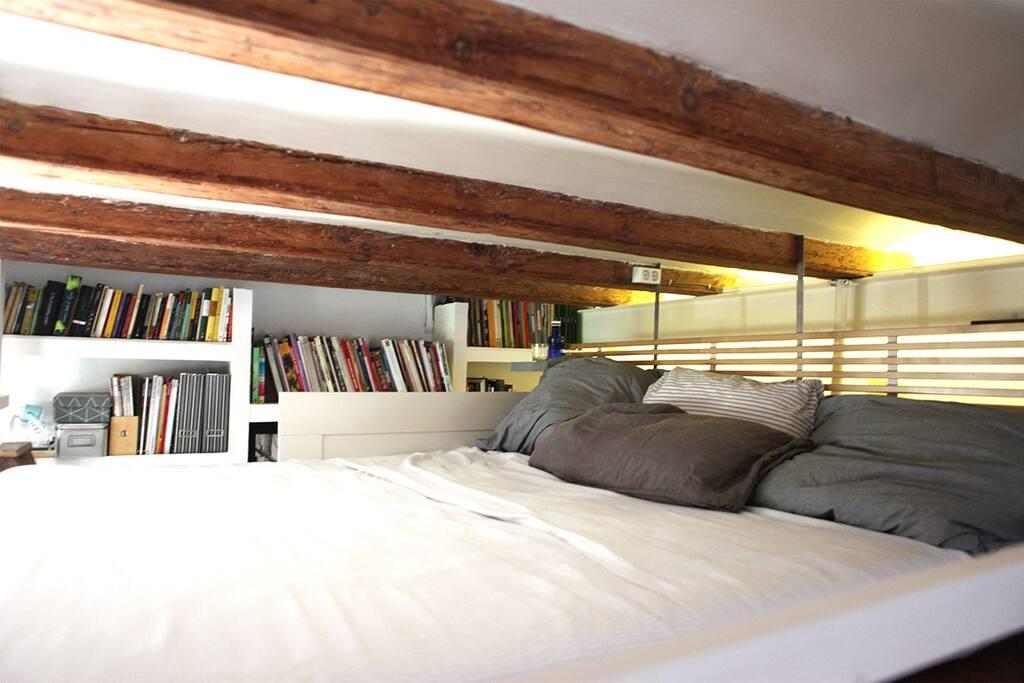 Loft double-bed.