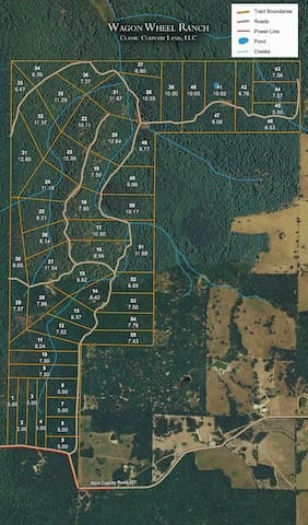 5 wooded  acres available for hunting or camping