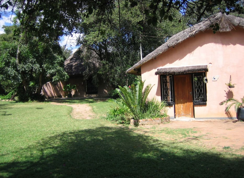 Lodges are located all around our beautiful gardens