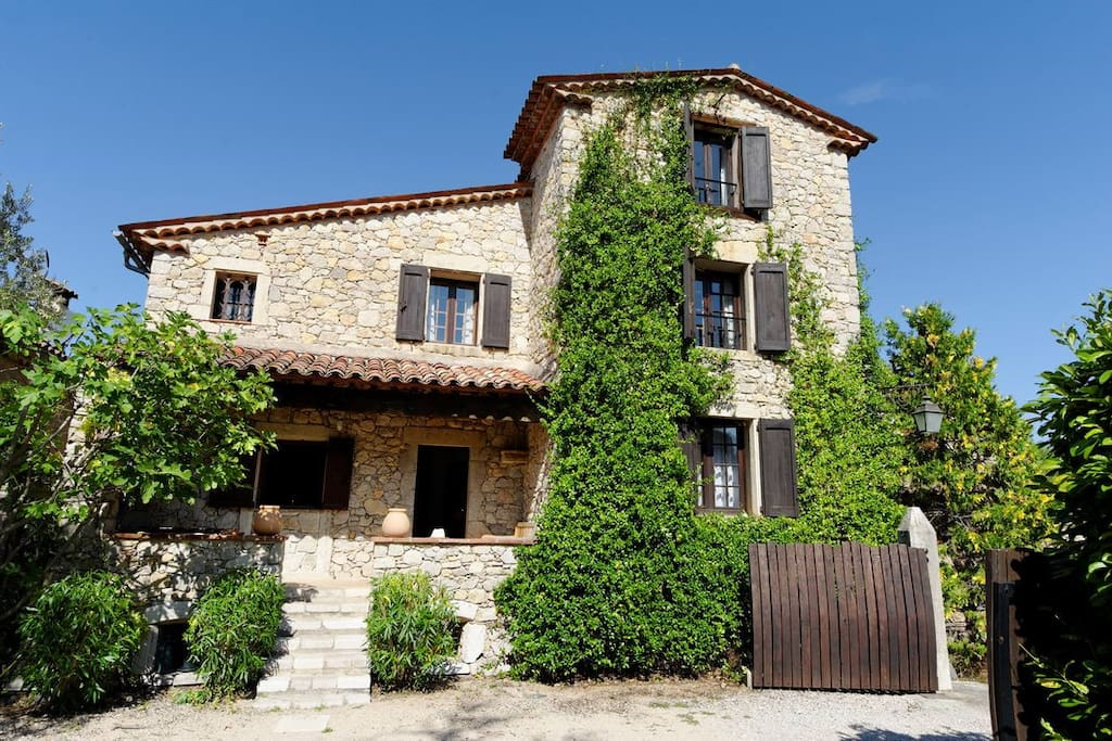 A traditional Provencal stone house