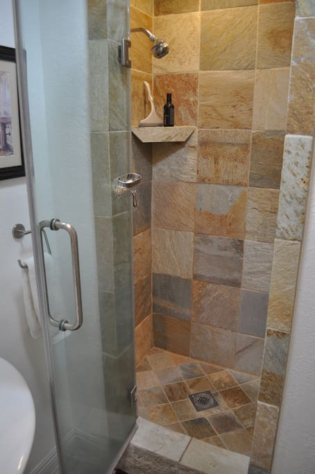 Stand-up shower.