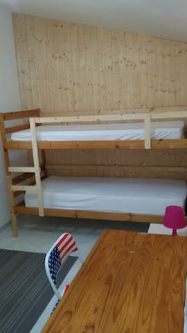 1st bedroom with bunk bed