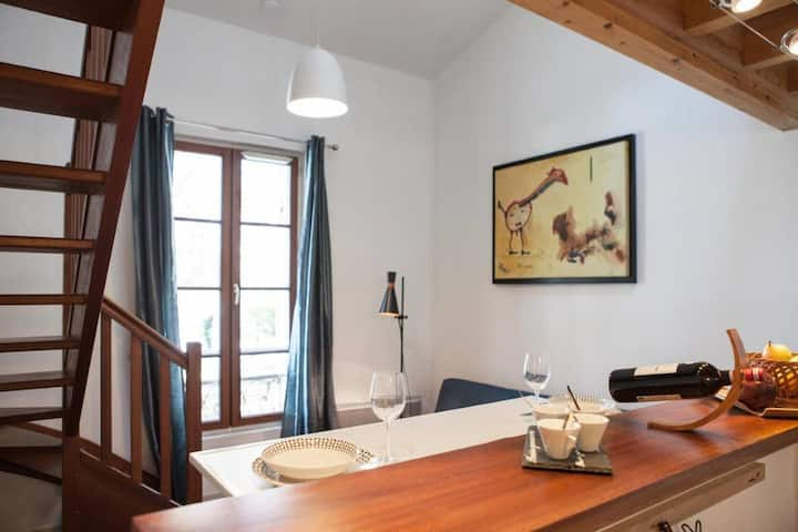 Cosy loft 36m², direct vue on the river Garonne