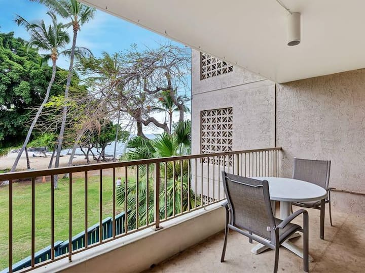 Beach Ocean View at a Great Value at Kona Reef!  King Bed- Walk to Town
