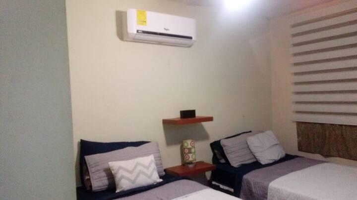 Confortable casa con 2 recamaras