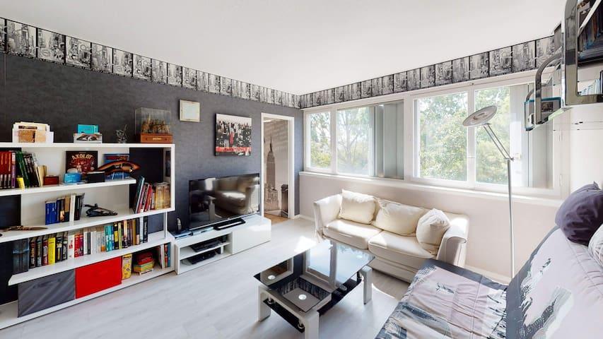 Chambre dans un très bel appartement lumineux