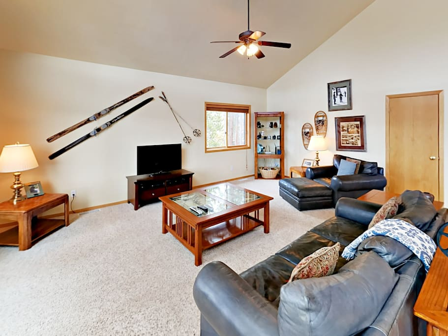 Unwind in the main living area and watch a movie on the flat screen TV.