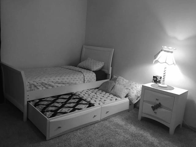 Cozy room, sleeps two, when trundle is used.