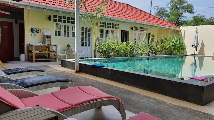 Double room in Barefeet Naturist Resort