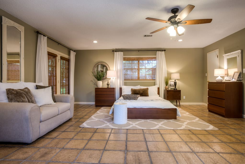 a 400 square foot bedroom with private entry