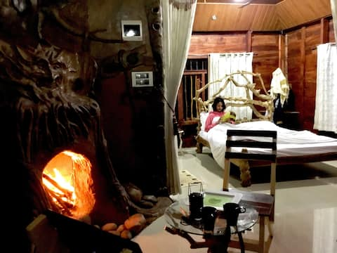 Pugmarks Wayanad Wooden Suite with Fireplace