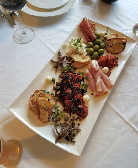 A better view of the antipasto platter