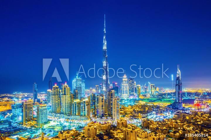 lux studio apartment Burj Khalifa view