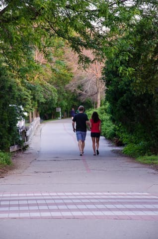 Enjoy of lovely stroll on the Monon Walking trail