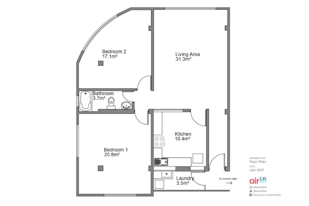 Appartment Plan , done by a guest Peter