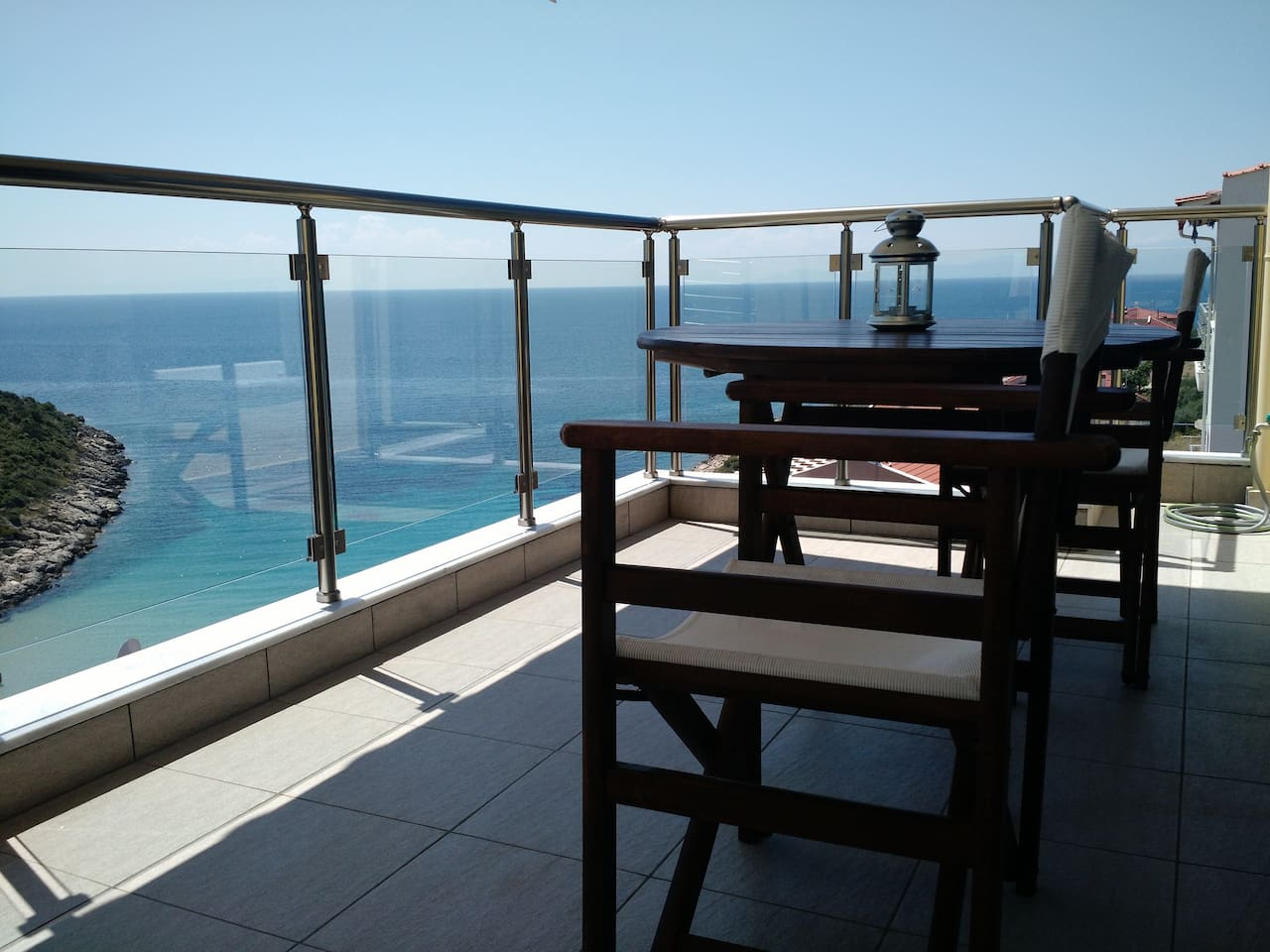 "The ""Above the Sea"" Apartment II balcony"