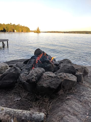 Fire pit by the water