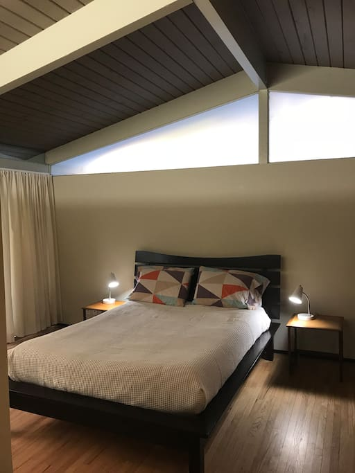Private bedroom in separate wing of the house. Next to full bathroom with shower. Newly refurbished.