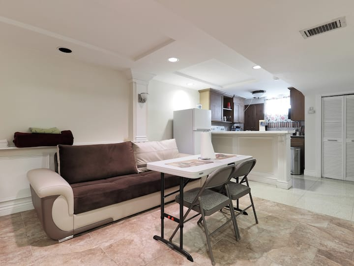 "Handsome basement apartment home ""close to Metro"""