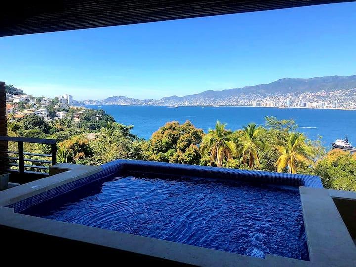 Villa Sirena con alberca privada y la mejor vista