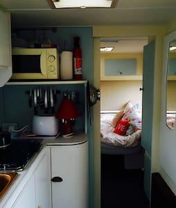Thrifty caravan. Our handcrafted vintage caravan.
