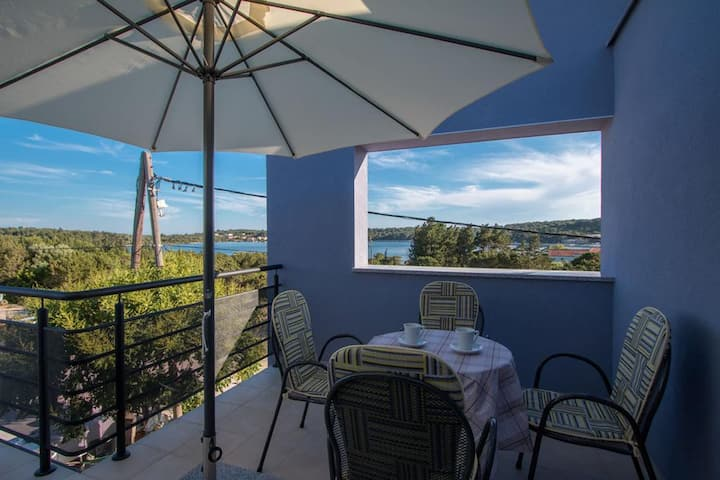 Two bedroom apartment with terrace and sea view Verunić, Dugi otok (A-14286-d)