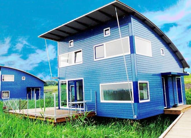 6pers Luxus Ferienhaus mit Seeblick am Lauwersmeer - Anjum - Talo
