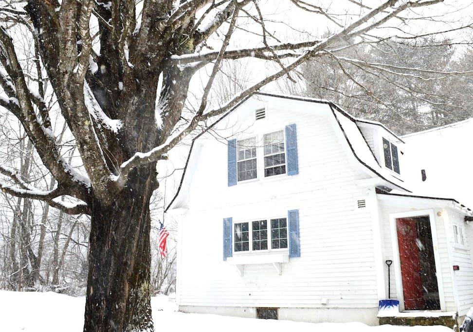 Back of farmhouse in  winter - Jan 2017