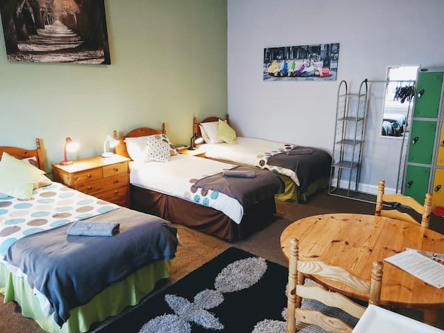 Single bed in 4-bed mixed dorm